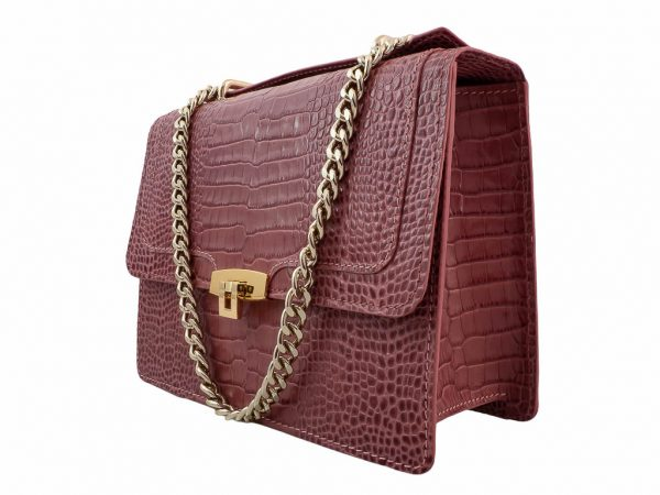 Bolso con bandolera messenger rosa coco - Pielxpiel-4