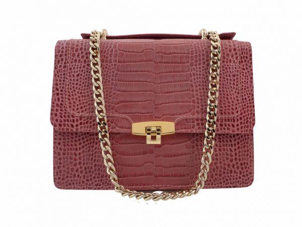 Bolso con bandolera messenger rosa coco - Pielxpiel-5