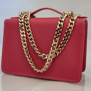 Bolso Messenger Pocket piel saffiano rosa bandolera