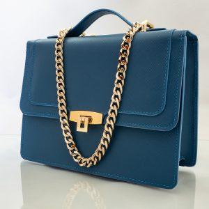 Bolso Messenger Saffiano Azul