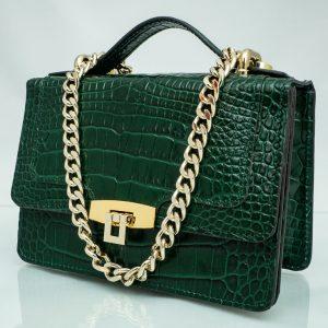 Bolso Messenger Pocket piel coco samantha verde