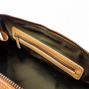 Bolso Bugatti grabado lagarto marrón- Pielxpiel-3