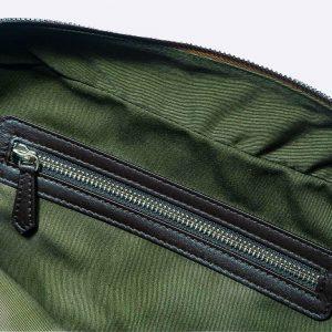 Bolso amazonas piel lagarto grabado marrón chocolate- Pielxpiel-1